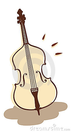 Double bass vector