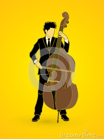 Free Double Bass Player Stock Images - 77193474