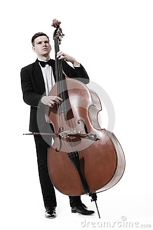 Free Double Bass Player Contrabass Isolated Stock Photo - 108088800
