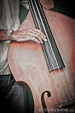 Double bass player,cuba