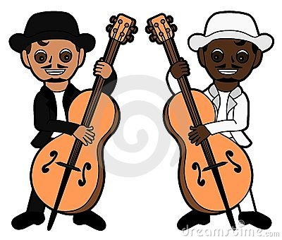 Double bass players