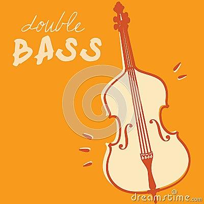 Double bass vector