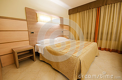 Double bed in the  room