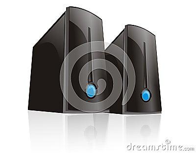 Double black server computer