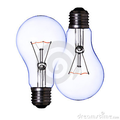 Free Double Blue Lamp Bulb Royalty Free Stock Photo - 10337185