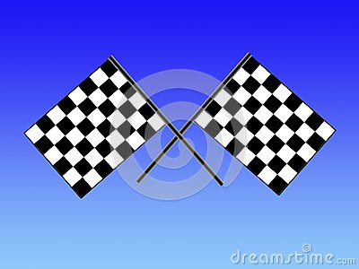 Double checkered flag