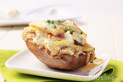 Double cheese twice baked potato