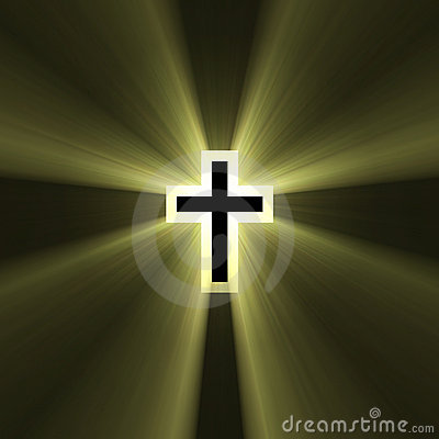 Double cross symbol light flare