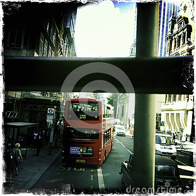 Double decker bus in London - Mobile Editorial Stock Image