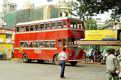 Double-decker bus, Mumbai, India Editorial Photography