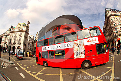 Double decker in London, England Editorial Photography