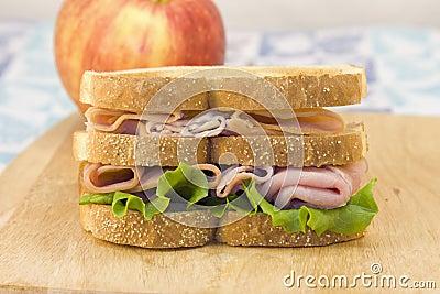Double Decker Meat Sandwich