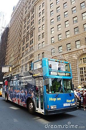 Double decker NYC Editorial Stock Photo