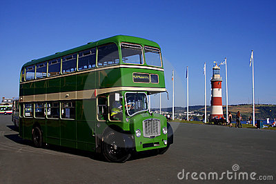 Double-decker, Plymouth, England, Uk