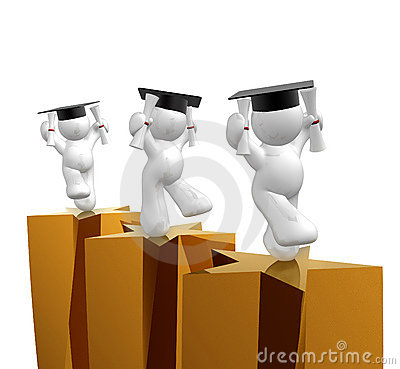 Double degree graduation icon figure