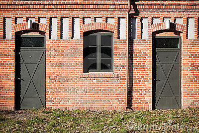 Double entrance in old factory