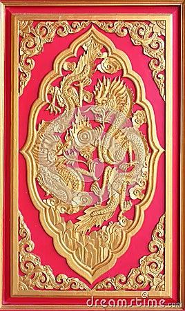 Double golden dragon