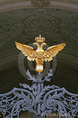 Double-headed eagle on Hermitage, Saint-Petersburg