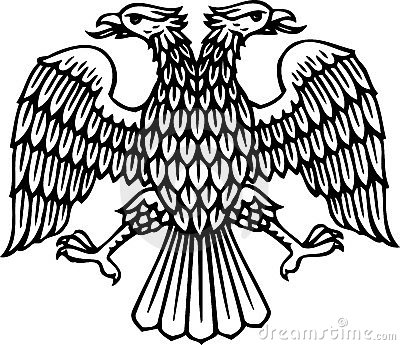 Double headed eagle silhouette