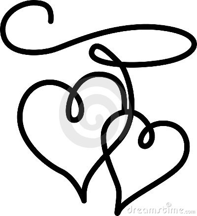 Double Hearts Connected By A Rope Royalty Free Stock Image ...