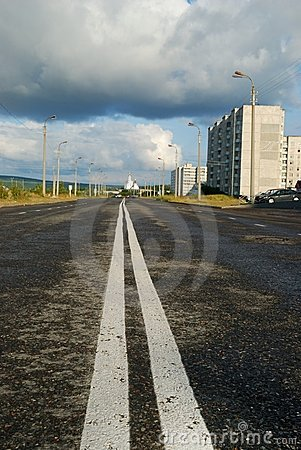 Double Line Of A Road Marking Royalty Free Stock Photos - Image: 6337968