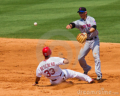 Double Play Editorial Photo