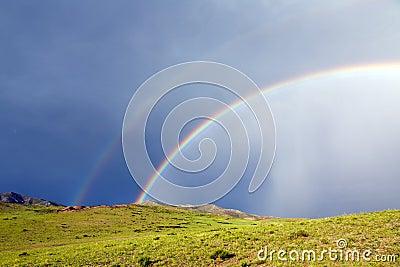 Double Rainbow in Mongolia
