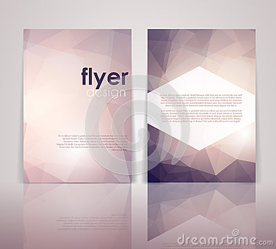 double sided brochure template - double sided flyer design stock vector image 51088178