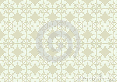 Double Star and Circle Pattern on Pastel Color