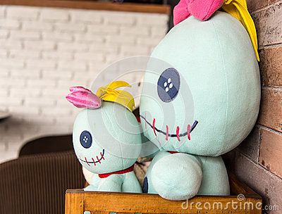 Double Stuffed toy Stock Photo