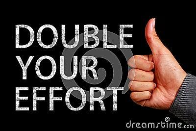 double your effort stock photo image 59245116. Black Bedroom Furniture Sets. Home Design Ideas