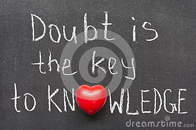 doubt is the key to knowledge essay