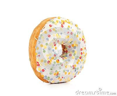 Doughnut covered in sprinkles