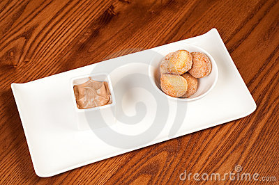 Doughnuts and chocolate mousse