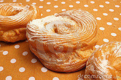 Doughnuts with sugar