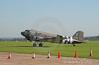 Douglas DC-3 on the flight lane Editorial Stock Photo