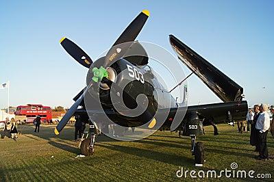 Douglas Skyraider plane Editorial Image
