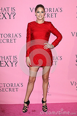 Doutzen Kroes arrives at the Victoria s Secret What Is Sexy? Party Editorial Image
