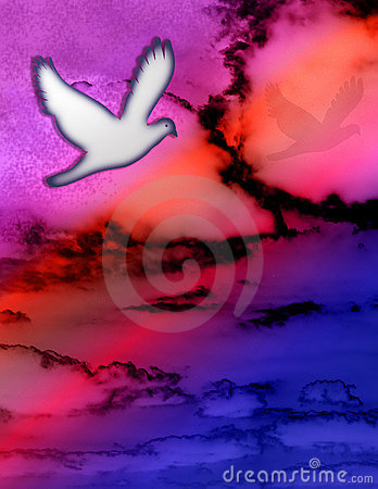 Free Dove And Sky Royalty Free Stock Photography - 540577