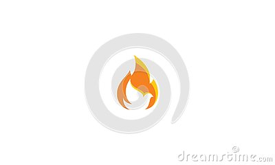 Dove fire logo vector icon Vector Illustration