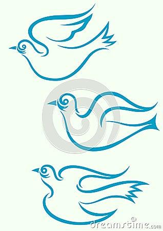 Dove flying.