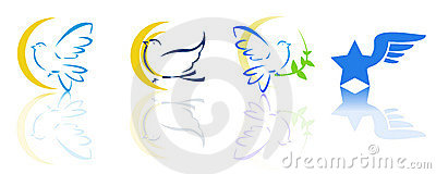 Dove and flying logos
