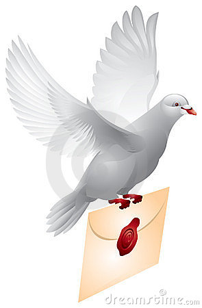 Dove Mail Flying Pigeon Stock Photography Image 15129912