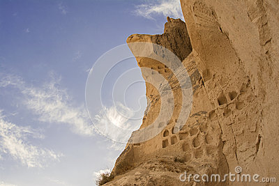 Dovecotes On Fairy Chimneys, Goreme, Turkey