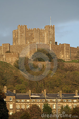 Dover castle and town