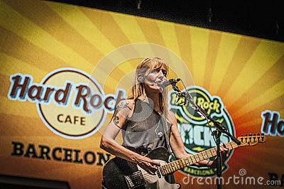 Dover performs at the Hard Rock Rocks La Merce Editorial Stock Photo