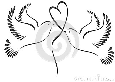 2 doves love window for wedding
