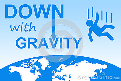 Down with gravity Stock Photo