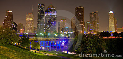Down Town Houston by night