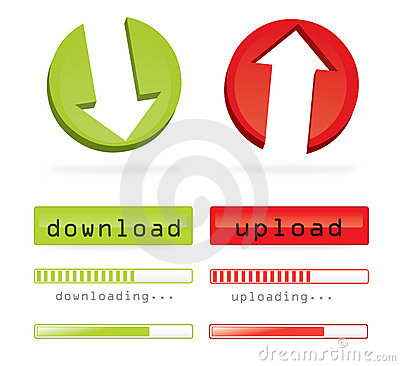 Down-and upload